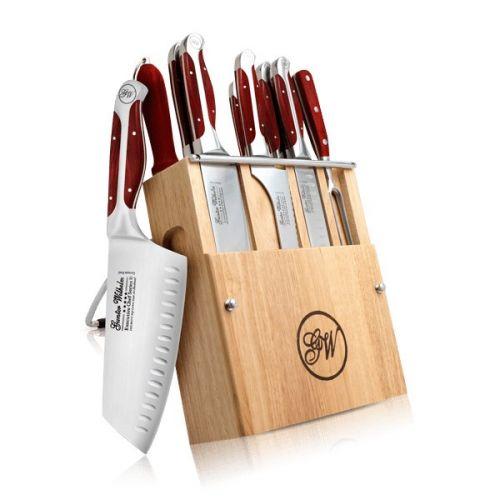 10 Pieces Cutlery knife set, Red ABS