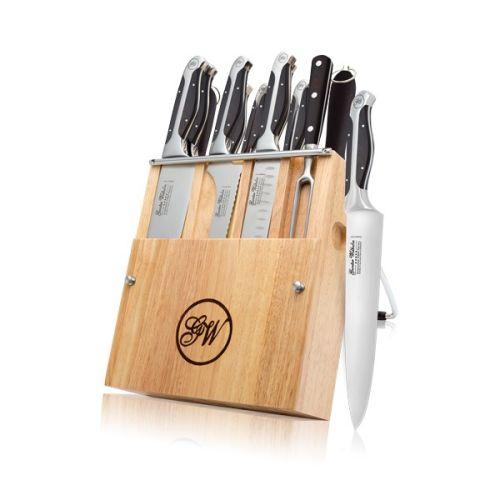 12 Piece Cutlery knife set, Black ABS