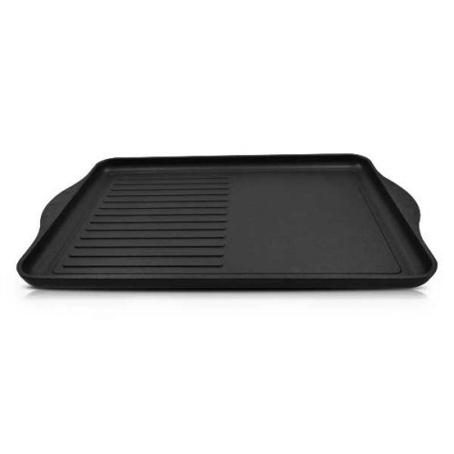 Non-stick Grill Griddle (1/2 grill, 1/2 smooth surface) 43x28x2cm /16.9x11x0.79-inch